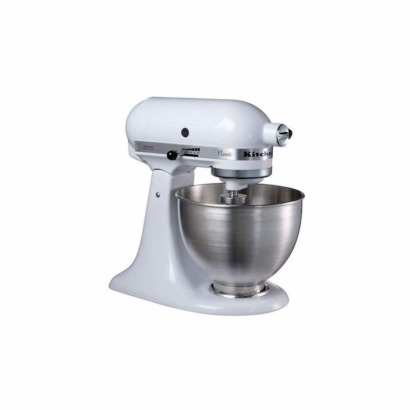 Kitchenaid 5K45SSEWH Batidora amasadora multifunción, color blanco